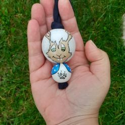 wooden bead doll uggiebuds comfort doll rabbit