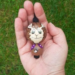 wooden bead doll uggiebuds comfort doll bear