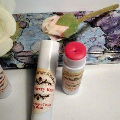 *New* Vegan Organic Strawberry Rose Tinted Lip Balm - With CPSR