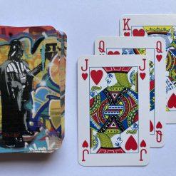 Darth Vader Street art Playing Cards