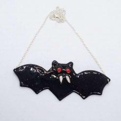 Vampire bat necklace. Halloween  bat necklace