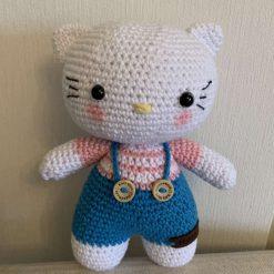 Hand crocheted Hello Kitty