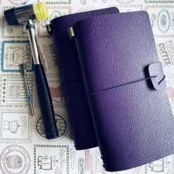 2-Sides Leather Cover Traveler's Notebook - Standard-Size
