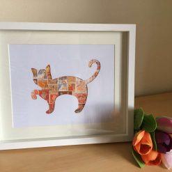 Postage Stamp Orange Ginger Cat