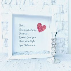 Real Friend Frame, Friendship Forever Quote, Birthday Gift for Her