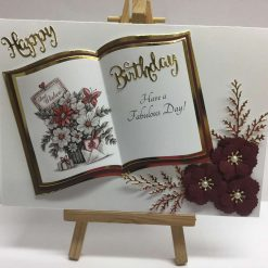 Book Topper Birthday Card