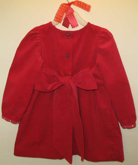 Sophie Red Corduroy dress by SerendipityGDDs for age 4