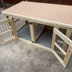 Indoor dog kennel double