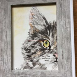 """""""Kitty"""", framed watercolour painting"""