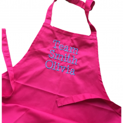 Personalised Apron, Team Family Name, Child's Name  3-6yrs