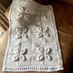 Leaf-Square Baby Blanket