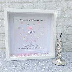 60th Birthday Delicate Heart Gift, Gift for Her, Mum, Sister