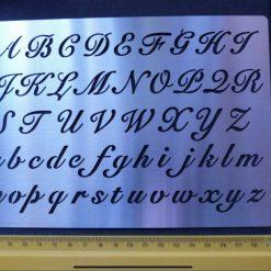 Stainless Steel Stencil * Alphabet * U/L Case * Script