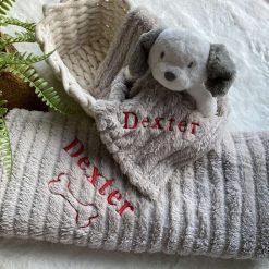 Personalised Gifts Dog Pet Poppy Blanket Toy Comforter Set