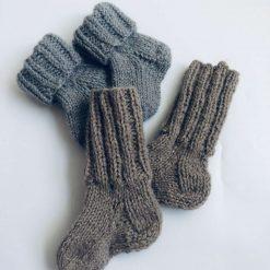 ( grey )Knitted baby's socks, 100% natural sheep wool socks, first baby socks