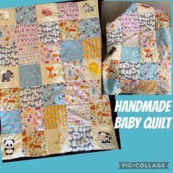 Handmade Patchwork Baby Quilt Animal Design