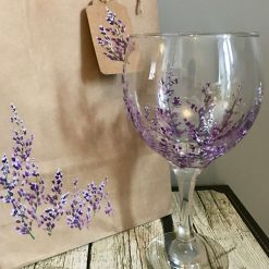 All Lavender Gin Glass- Hand Painted