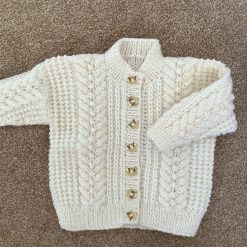 Babies Aran Knit Cardigan