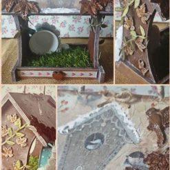bird feeder winter house - home Décor