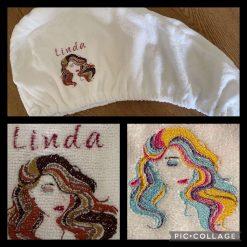 Personalised Embroidered Microfibre Turbie Hair Towels