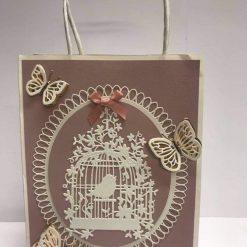 Old Rose & White Gift Bag