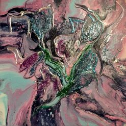 """""""Lilac tree"""" Abstract acrylic painting"""