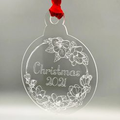 Acrylic Bauble (Design: Christmas 2021)