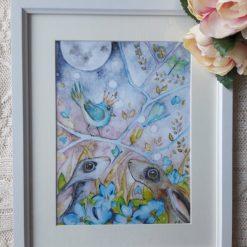 "🐦Framed Digital Print Watercolour "" Le Prince 1"" 🌜"