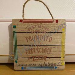 Homeschool Plaque Mum Gift Home Decor