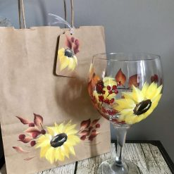 The Autumn Mix Gin,Wine,Tumbler  & Hi-ball Glasses - Hand Painted