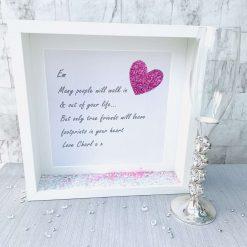 Sentimental Friendship Frame, Many People Birthday Gift, Handmade