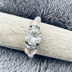 A Swarovski Crystal Ring - Crystal Clear and Silk