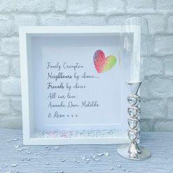 Gift for Neighbours, Friend Deep Box Frame, Frame for Next Door, Friendship Gift
