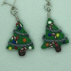Novelty Christmas Earrings - Christmas Tree