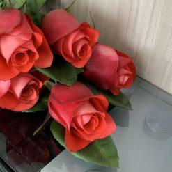 Handmade roses Iguana