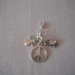 Peace & Praying Angel Charm/Stitch Marker