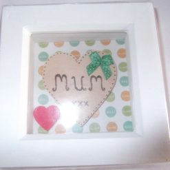 DEEP BOX  PICTURE FRAME (GLAZED)  - GIFT FOR MUM
