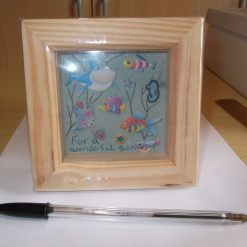 DEEP BOX PICTURE FRAME (GLAZED) - GIFT FOR SON