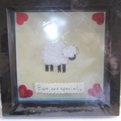 DEEP BOX FRAME PICTURE - SHEEP THEME - EWE ARE SPECIAL