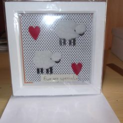 DEEP BOX PICTURE FRAME - SHEEP THEME - EWE ARE SPECIAL
