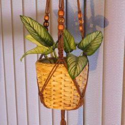 Macrame Plant hanger Long beaded