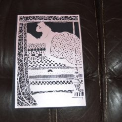 A4 pearlised papercut