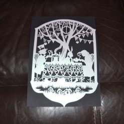 A4 pearlised paper cut