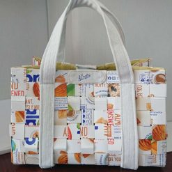Hand Bag made from Tetra Packs - 'The Tetra Bag'