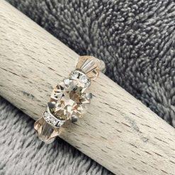 A Swarovski Crystal Ring - Light Silk