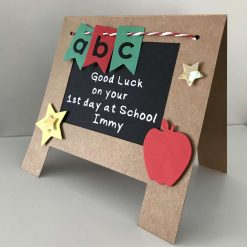 First day at Pre-school/school easel card