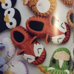 Crocheted Animal Slippers - Adults