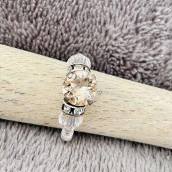 A Swarovski Crystal Ring - Light Silk and Crystal Clear