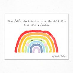A5 hand drawn little rainbow quote