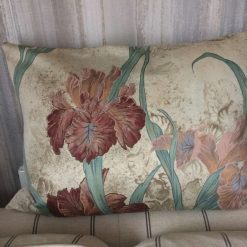 Vintage cushion cover handmade from 1980's furnishing fabric,